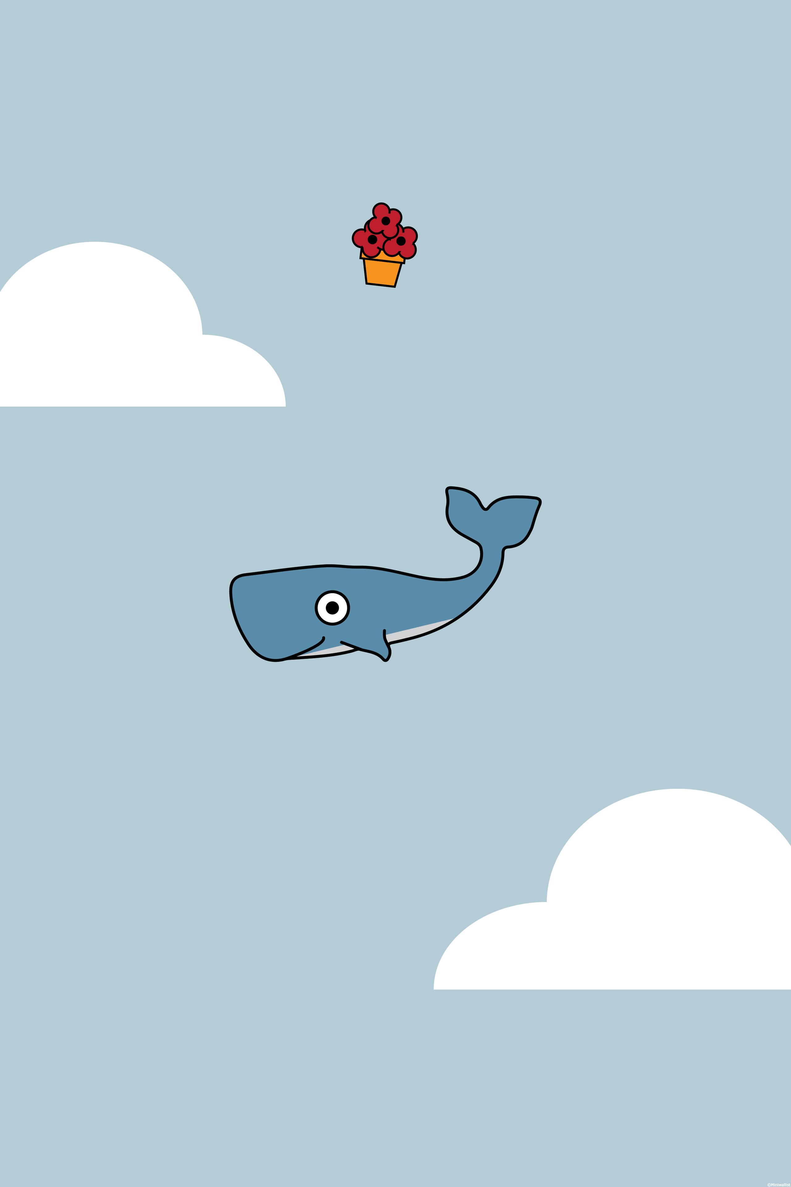hitchhiker s whale mobile wallpaper miniwallist rh miniwallist com Cute iPhone Wallpapers Girly iPhone Wallpaper
