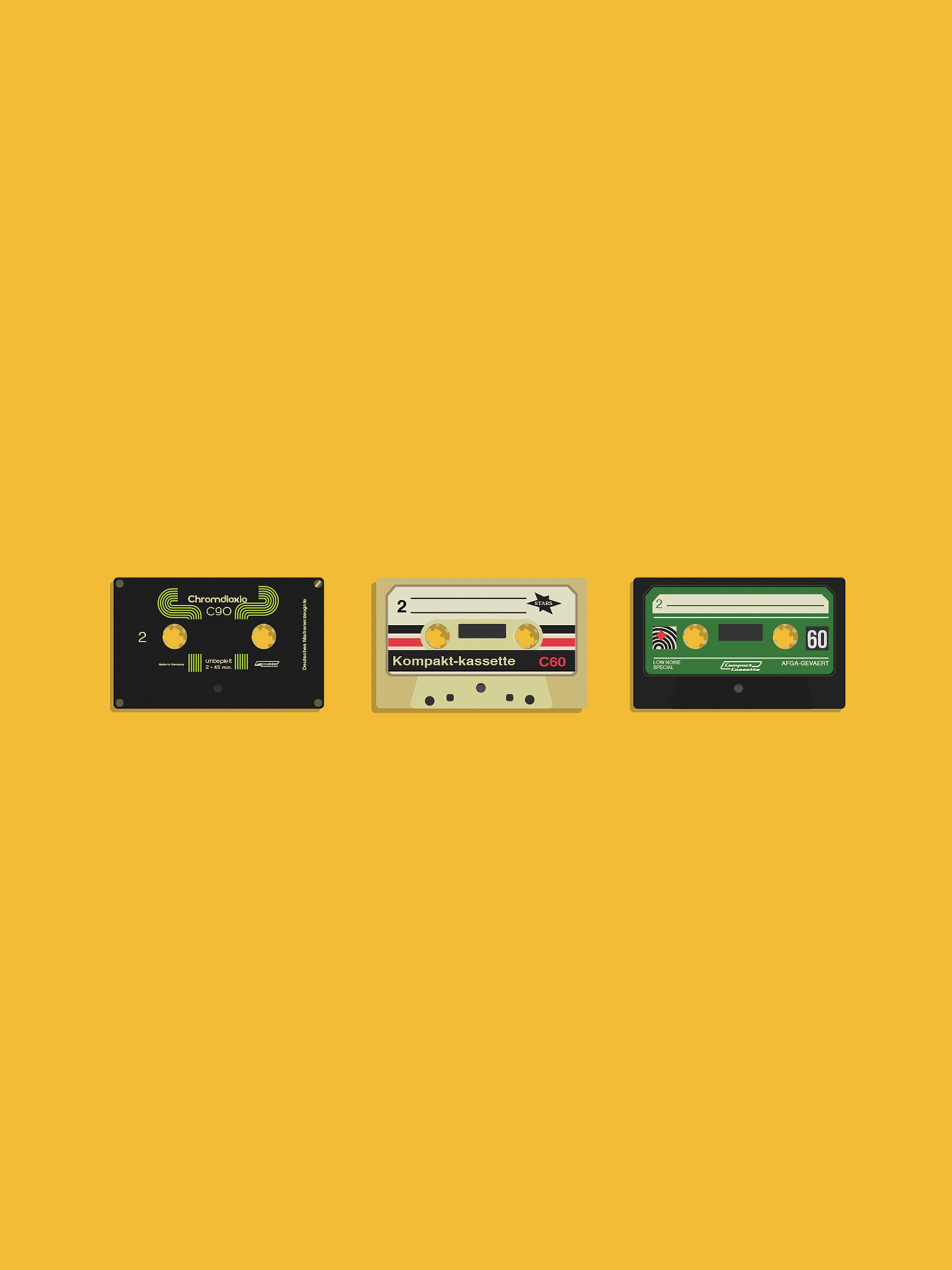 Retro Cassettes Mobile Wallpaper Miniwallist