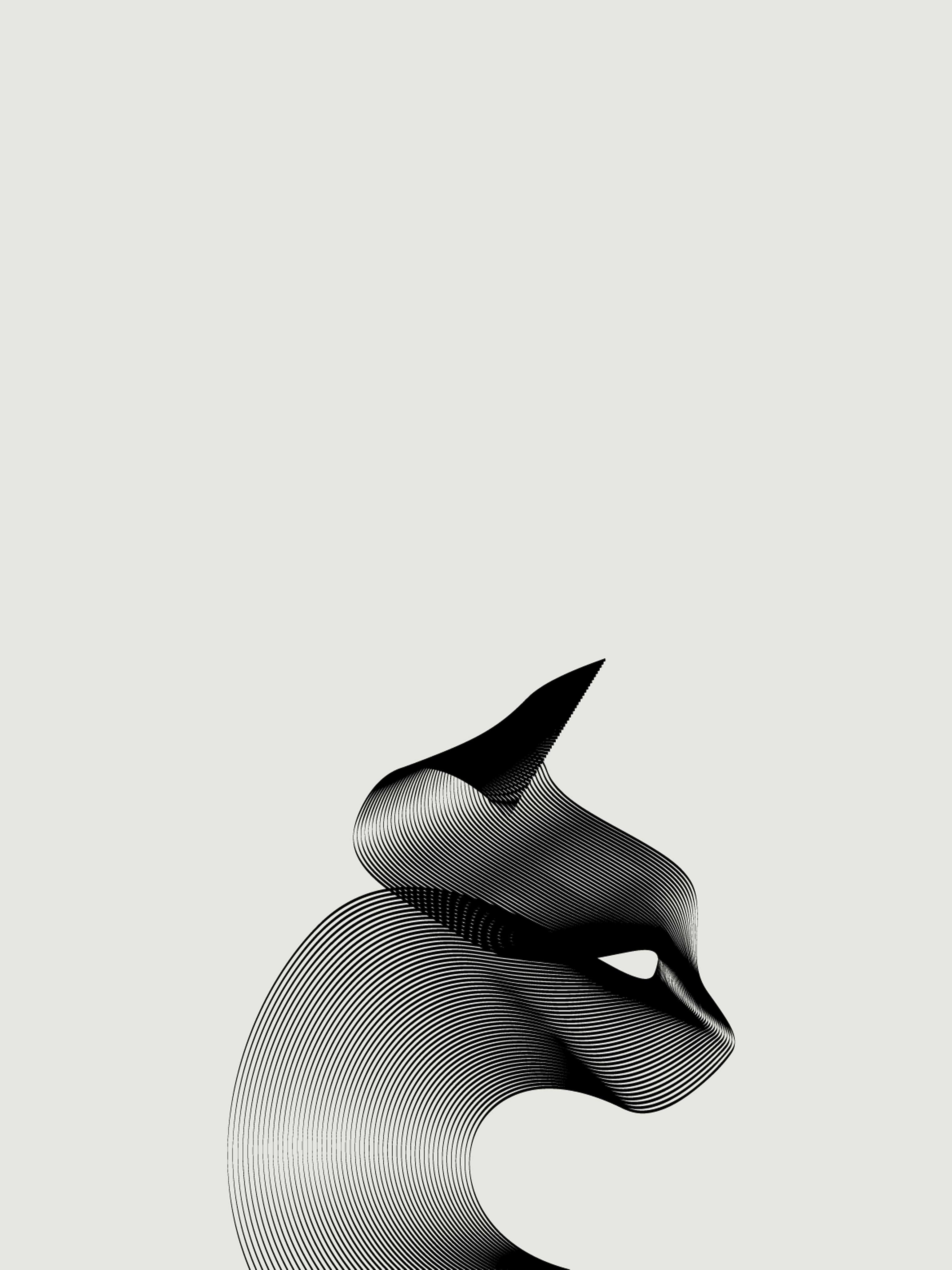 Cat In Moire Mobile Wallpaper Miniwallist