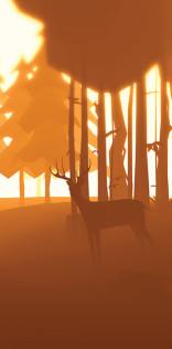 Deer In Autumn Forest Mobile Wallpaper