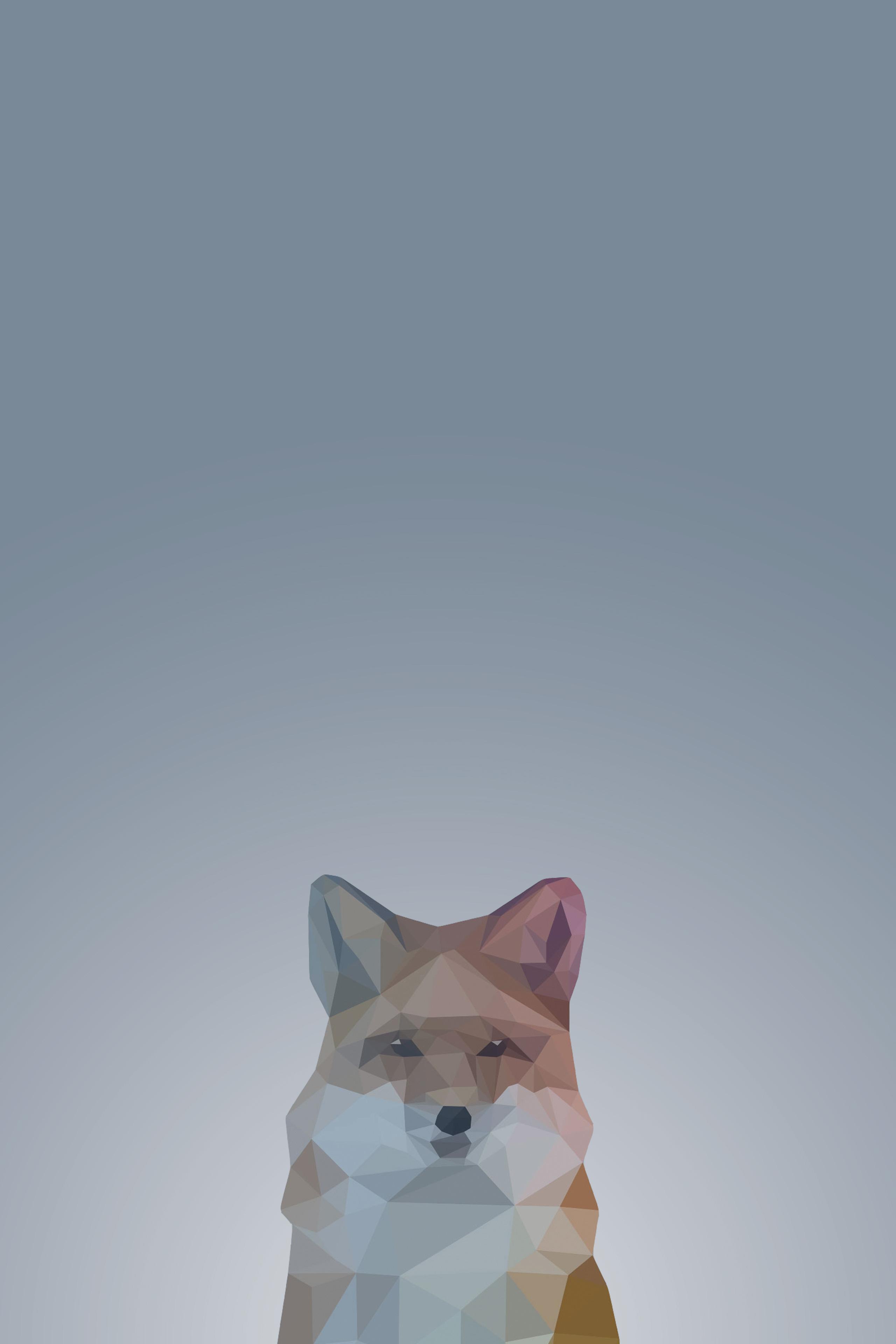 Low Poly Fox Mobile Wallpaper Miniwallist