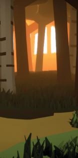 Polygonal Woods Mobile Wallpaper