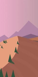 Pastel Hills Mobile Wallpaper