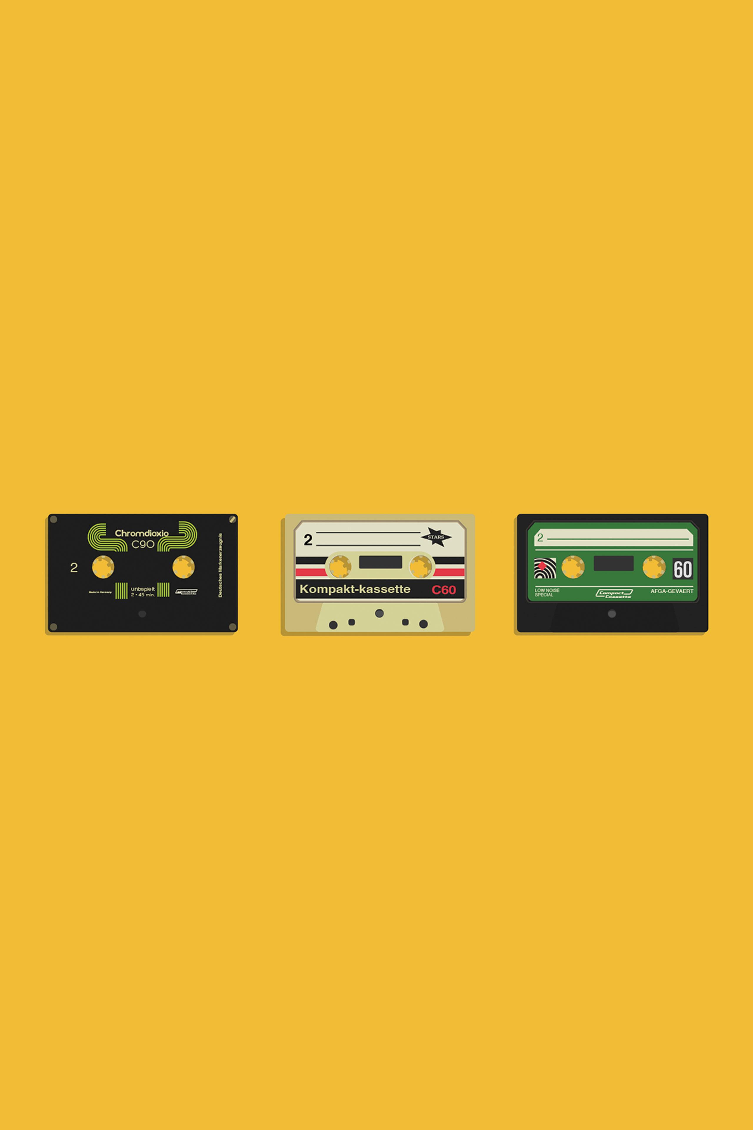 Retro Cassettes Mobile Wallpaper