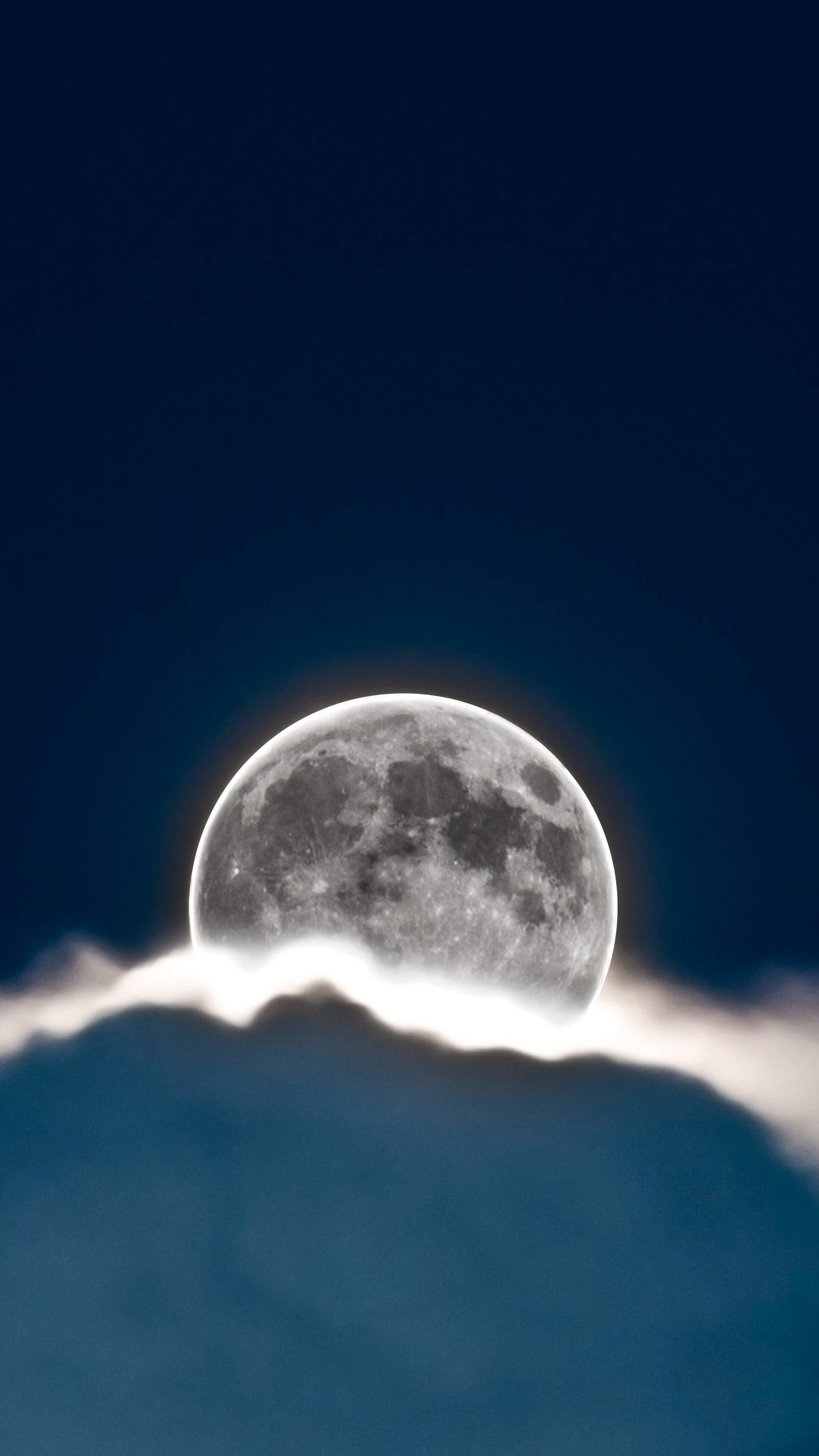 Glowing Full Moon Mobile Wallpaper Miniwallist