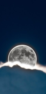 Glowing Full Moon Mobile Wallpaper