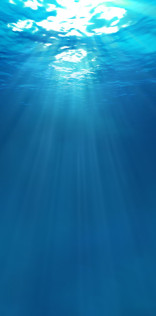 Underwater Sun Rays Mobile Wallpaper