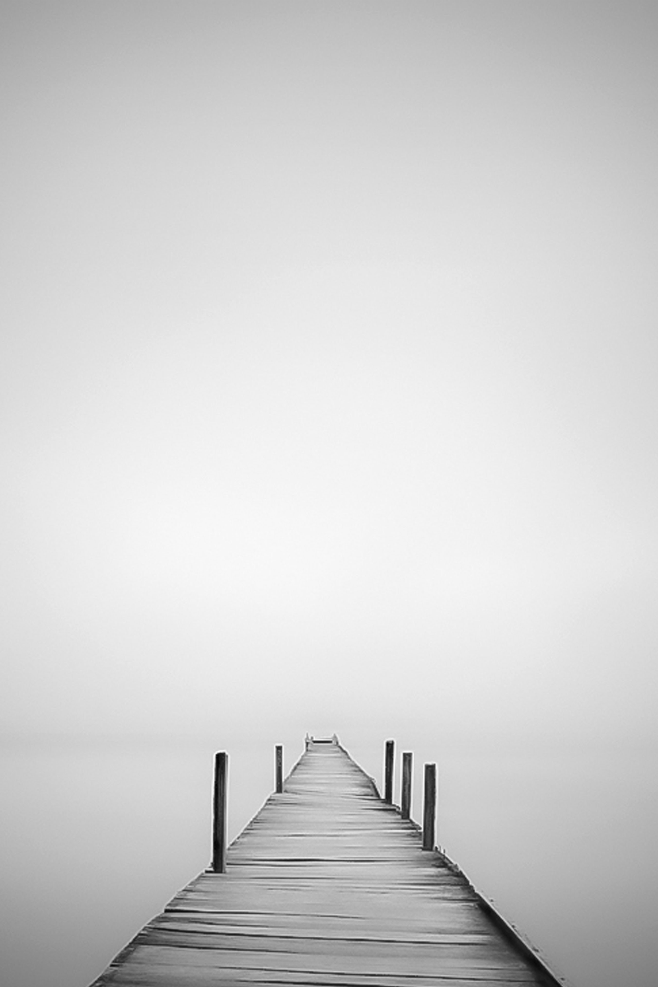 Pier In Mist Mobile Wallpaper Miniwallist