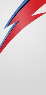 David Bowie Lighting Bolt Mobile Wallpaper